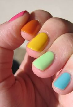 Perfect nails and lovely colors.