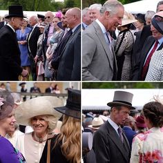 The Duke of Edinburgh, The Prince of Wales, The Duchess of Cornwall and The Duke of Kent chat with guests at today's Garden Party.