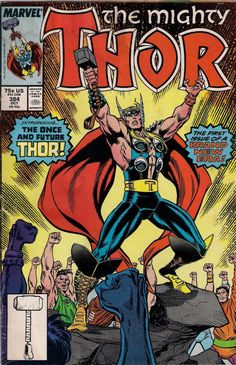 THOR # 384  MARVEL COMIC  1987  RON FRENZ / TOM DeFALCO  fine