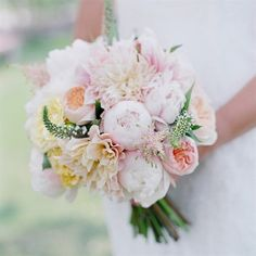 Would ya look at those peonies?! What a gorgeous bouquet by Cori Cook Floral Design.