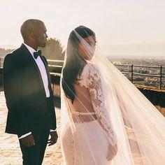Kim & Kanye Wedding. Givenchy designer wedding gown