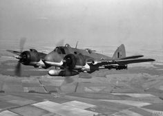 hms-exeter: Beaufighter TF Mark X in flight fitted with rocket projectiles and a external fuel tank. was retained by the Bristol Aeroplane Company for test flying before operational service with No. Air Force Aircraft, Navy Aircraft, Ww2 Aircraft, Military Aircraft, Military Weapons, Bristol Beaufighter, Private Pilot, Flying Ace, Ww2 Planes