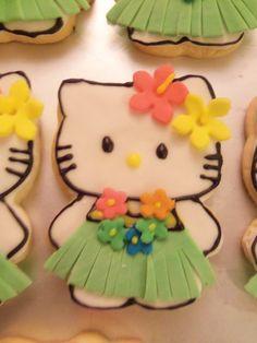 Hawaiian Hello Kitty Cookie