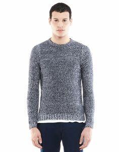 Bershka Polska - Dwukolorowy sweter z przędzy