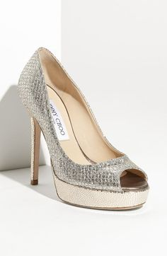 Free shipping and returns on Jimmy Choo 'Crown' Pump at Nordstrom.com. Glittering, textured fabric styles a peep-toe pump lifted by a lofty wrapped heel and platform.