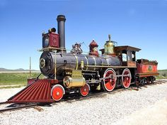 Recreated UP # 119 steam locomotive at the Golden Spike Historic Site in Utah.