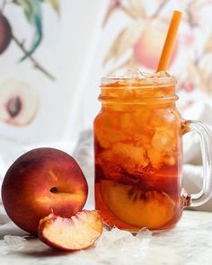 Rooibos Peach Iced Tea for good porch sitting. Rooibos tea is native to South Africa and is packed…