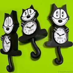 Кот Феликс настенные часы: Классические Новый Clocks RetroPlanet.com