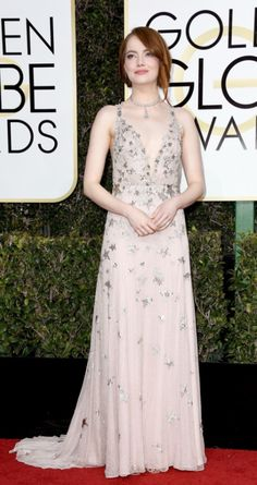 1/8/17 - Emma Stone at the 74th Annual Golden Globe Awards in Beverly Hills.