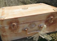 Wedding Keepsake suitcase boxin shabby chic by youruniquescrapbook, £49.99