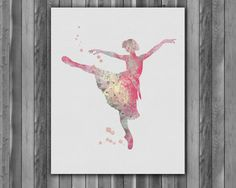 Wall Art – Ballerina Printable Watercolor art print – a unique product by…