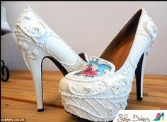 Cinderella style: Chris has his own shop, The Shoe Bakery, selling the mouth-watering heels and ballet pumps