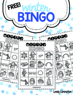 Free winter bingo boards, perfect for preschool holiday parties!