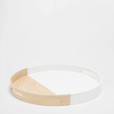 Large bamboo tray - TRAYS - TABLEWARE   Zara Home United Kingdom