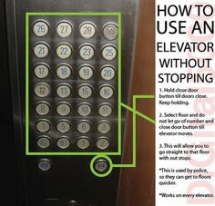 I have to try this next time I'm on an elevator