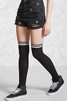 over the knee striped socks $6.90