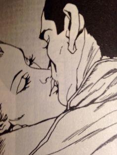 Diabolik and Eva kiss