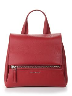 givenchy Cherry Leather 'Pandora Pure' Small Tote Bag Red