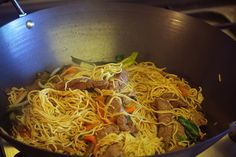 Japchae, Spaghetti, Food And Drink, Cooking, Ethnic Recipes, Kochen, Brewing