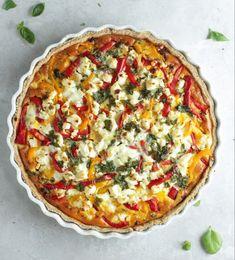 Greek Recipes, Italian Recipes, Quiches, Vegan Runner, Vegan Gains, Danish Food, Food Crush, Cooking Recipes, Healthy Recipes