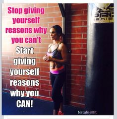 Love this so true don't doubt yourself I said I was not a runner... I can't run and look at me now I love to run !! Never say never and I can't cause you can