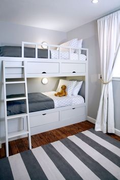 40+ Space Saving Bunk Beds For Small Rooms You Need To Copy In 2019 bunk bed ideas, sharing bedroom ideas, shared bedrooms, space saving room ideas