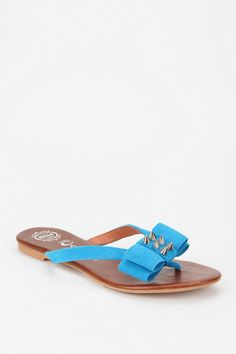 Blue suede..sandals..with a bow and studs, of course! #urbanoutfitters