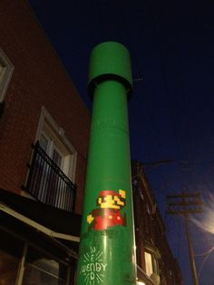 Mario street art. Toronto.