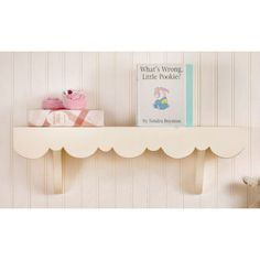 3f360eb1fdd Free Shipping when you buy New Arrivals Scalloped Cottage Wall Shelf at  Wayfair - Great Deals