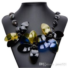 2016 Chic Women Chokers Acrylic Rhinestone Ribbon Statement Necklaces Jewelry Gifts For Her From Janet521, $6.14 | Dhgate.Com