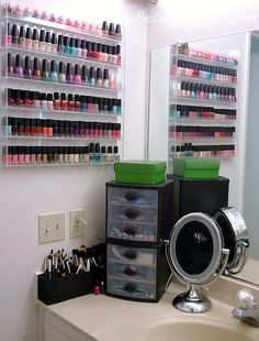 nail polish storage, I have to have this!!!