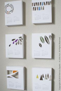 lovely calendar papercut