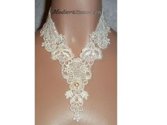 Cream Venise Lace Victorian Wedding Collar by medievaltomodern, $35.00