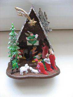 Whimsical Recycled Gift Vintage Mid Century Celestial Star Angel Ornament Kitsch Retro Wood Handmade Christmas Decor