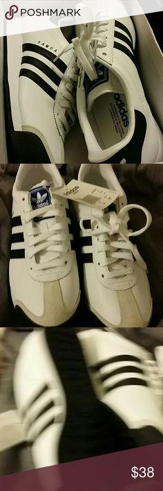 Adidas Samoa Sneakers NWOT blk/wht size men 9 adidas Shoes