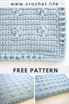 This easy free crochet blanket pattern is so cool--perfect for a beginner crochet project or an intermediate or even advanced, because you can make it more complex and fun! Diy Crochet Patterns, Beginner Crochet Projects, Baby Knitting Patterns, Crochet Ideas, Free Baby Blanket Patterns, Baby Boy Crochet Blanket, Crochet Blankets, Crochet Baby, Quick Crochet