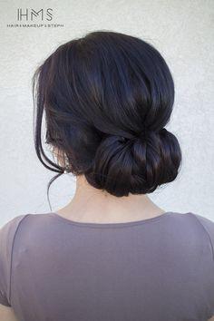 Brunette Bridal hair. More inspiration over at www.breakfastwithaudrey.com.au