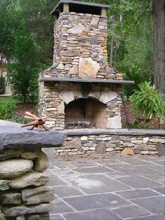 Stone Patio fireplace. Probably won't happen, but it would be pretty awesome.