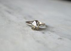 Jex Jewelry - The COAD Ring - Reclaimed sterling silver & herkimer diamon Raw Diamond, Herkimer Diamond, Jewelry Accessories, Fashion Accessories, Jewelry Design, Wedding Jewelry, Jewelery, Bling, Stud Earrings