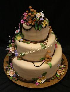 Mushroon cake woodland theme