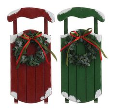 Raz Large Sled Ornament Color: Red #Raz