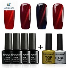 Nail Gel Radient Vrenmol Magnetic Cat Eye Gel Nail Polish 3d Magic Change Manicure Gel Varnish Color Magnet Stick Nails Professional Uv Led Gel