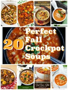 There isn't a more perfect dinner for a cold fall night than a big bowl of soup. Here's a list of some of the most delicious crockpot recipes for you! Best dinners for busy school nights that are delicious, cheap and healthy. Delicious Crockpot Recipes, Slow Cooker Recipes, Soup Recipes, Recipies, Crockpot Meals, Crockpot Dishes, Casserole Recipes, Delicious Food, Yummy Recipes