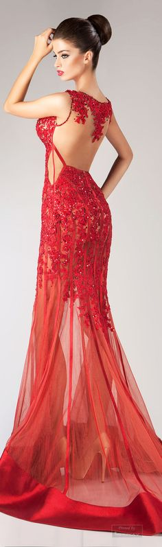 Hanna Toumajean Fall-winter 2014-2015. (recently pinned the front of the dress)