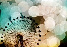 Pastel Blue Ferris Wheel