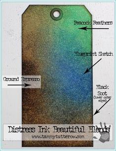 Distress Ink Beautiful Blends 2   www.tammytutterow.com