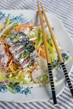 Mackerel Sashimi Salad | The Hedgecombers