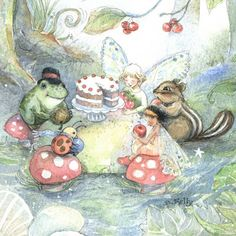 woodland tea party.. something for a nursery perhaps?