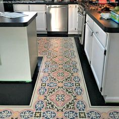 OurAnatolia Tile Stencil is a largetile stencil design inspired by the Turkish region and the beautiful tiles found there. Its boho chic design looks amazing