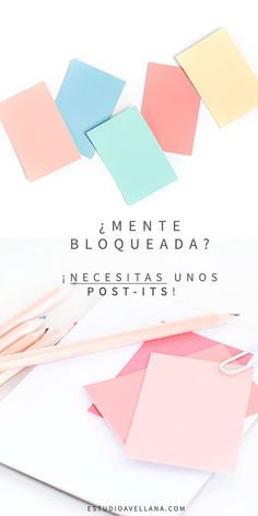 Ideas para usar post-its - Organizador de temas